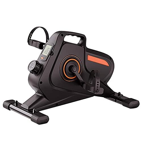GAXQFEI Mini Paso Magnético Portátil, Bajo Escritorio Bicicleta Elíptica, Ejercicio de Pedales, Entrenador de Ejercicios de Cardio de Fitness de Mute Stepper Fitness para Oficina en Casa