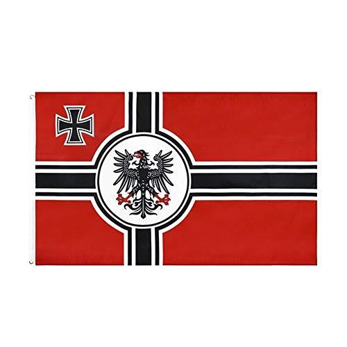 IUIIUI Deutsch DK Reich Der Flagge, 100% Polyester - Metallene Schnürsenkelösen - Doppelt Vernähte (90x150cm) (Color : C05B)