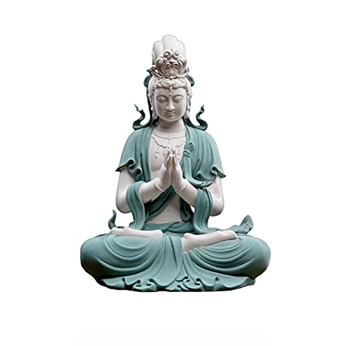 Quan Yin Meditating Buddha. Asian Goddess Of Compassion And Mercy. Buddhist Deity Protector Of Women. Statue Outdoor, Jing Si Guan Yin & Blessing Of Guanyin 48/29.5CM ( Size : 2 Blessing of Guanyin )