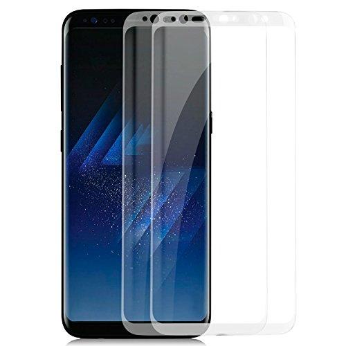 zanasta 2 Pezzi Vetro Temperato Compatibile con Samsung Galaxy S8+ (Plus) Pellicola Protettiva Copertura Completa Proteggi Schermo Duro [Trasparente]