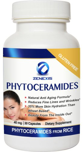 Zenexis Phytoceramides - Hydrates Your Skin From The Inside Out Head To Toe. Plant Derived Rice Based Anti Aging Skin Care Supplement With Vitamins A C D E. Made In the USA