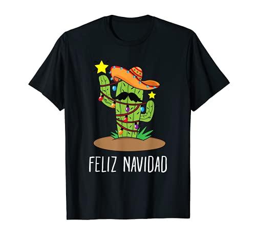 Feliz Navidad Cactus Árbol de Navidad Camiseta