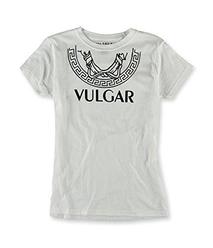 HLZBLZ Womens The Vulgar Tee Graphic T-Shirt, White, Large