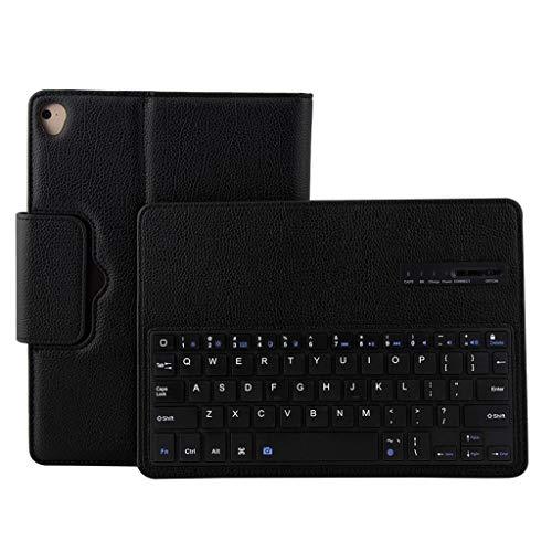 Funda de piel con teclado para iPad Air de 10,5 pulgadas con funda magnética para tablet PC con soporte, extraíble e inalámbrico, con cubierta protectora y función atril.