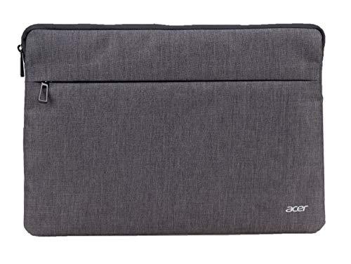 Acer Protective Sleeve (geeignet für bis zu 15,6 Zoll Notebooks: Universelle Schutzhülle, wasserabweisendes Außenmaterial, Schutz vor Dreck & Stoßschäden, extra Fronttasche) hellgrau