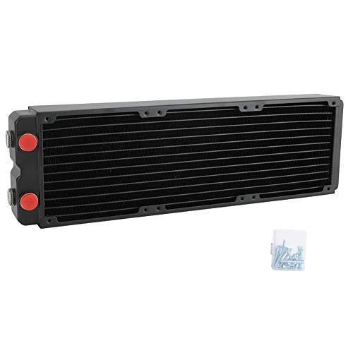 ASHATA Computer Radiator, Wasserkühlung Radiator Computerzubehör Wasserkühlung Zweischichtiger 45-MM-Kupfer-Wärmeableitungskühler für eine schnellere Wärmeableitung
