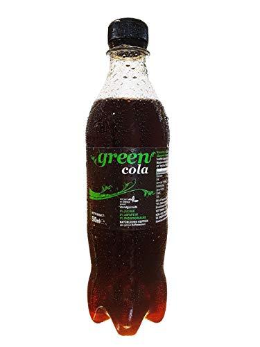 Green Cola - inkl.Pfand | 0,5L | natürliches Koffein | Grüne Kaffeebohne | ohne Zucker | Buxtrade | Verschiedene Mengen (24 Flaschen / € 2,95 je l)