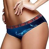 TIZORAX Starlight Rinderkopf Damen Unterwäsche Bikini Fashion Damen Slip Gr. Medium, mehrfarbig