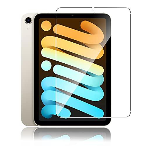 Aerku iPad mini6 ガラスフィルム 9H硬度 防爆裂 気泡防止 高透過率 ラウンドエッジ加工 iPad mini 6 保護フィルム