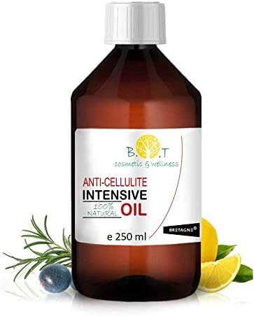 Olio Intensivo Anti cellulite Dimagrante 100% Naturale con Oli essenziali di limone,...