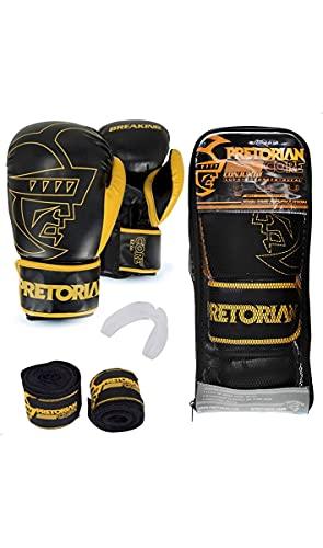 Kit de Boxe/Muay thai Pretorian Elite Preto Tamanho: 12 OZ (12 OZ)