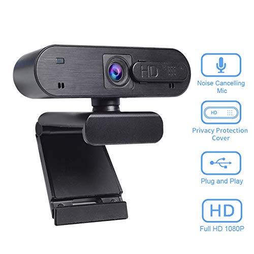 Webcam Anivia Full HD Webcam USB de 1080p con micrófono dual Cámara de 2MP Autofocus Cámara web HDR Videoconferencia y grabación de pantalla panorámica para computadora portátil Skype Stream Gaming