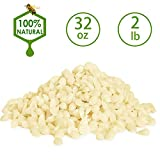 XYUT White Beeswax Pellets 2LB/ 32 oz 100% Pure and Natural Triple Filtered