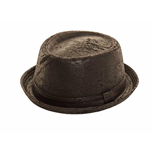 Hawkins - Chapeau porkpie - Uni - Homme Noir Noir