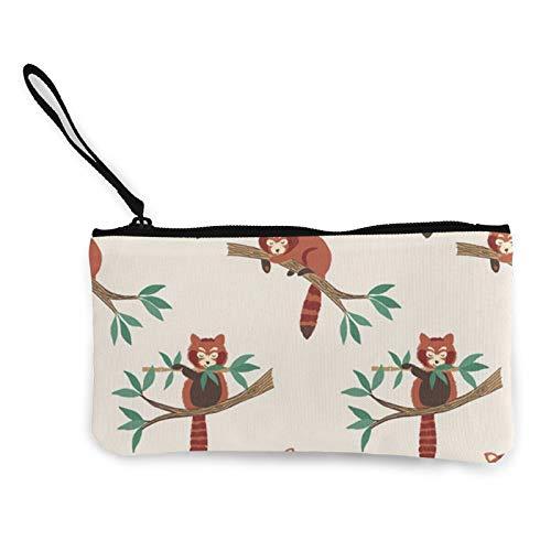 Moneda de lona, bolso rojo con cremallera, bolsa de cosméticos de viaje, multifunción, bolsa de maquillaje, bolsa de teléfono móvil, paquete de lápices con asa