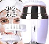 Cepillo Limpiador Facial Sónico Silicona Cerda Suave Portátil Recargable 3 Cabezales 3 Intensidades Impermeable Exfoliante Rejuvenecedor