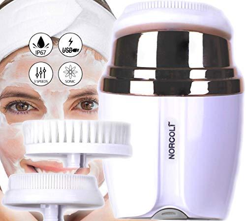 Cepillo Limpiador Facial Sónico Silicona Cerda Suave