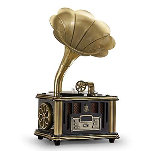 Plattenspieler, Vinyl-Grammophon-Player mit 2 Stereoanlagen, UKW-Radio mit Blue Night-Anschluss, USB-angetriebenes Grammophon mit Fernbedienung