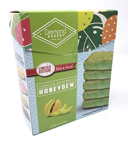 Diamond Bakery Honeydew Melon Hawaiian Macadamia Nut Shortbread Cookies 4.4 oz
