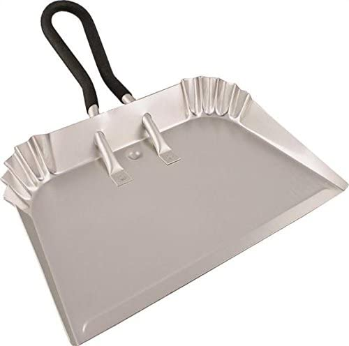 18 Large Deluxe Heavy Duty Industrial Strong Metal Dustpan Extra Strong Garden