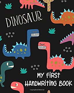 My First Handwriting Book: Paperback Primary Composition notebook 8x10 with  wide ruled lines on each page perfect for ear...