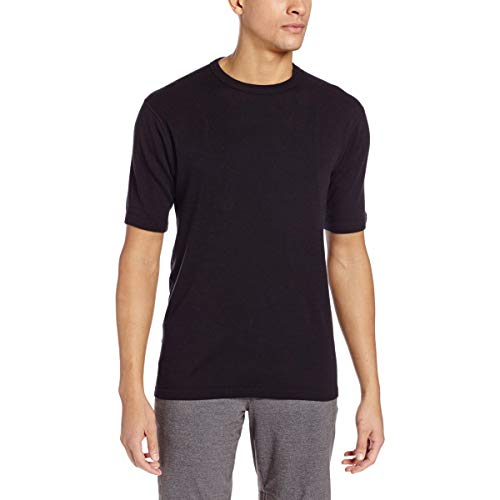 Minus33 Merino Wool 704 Sentinel Men's Midweight Short Sleeve Crew Black Medium