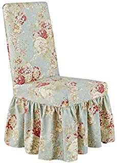 Sure Fit Ballad Bouquet by Waverly Long Dining Chair Slipcover (Robin's Egg)