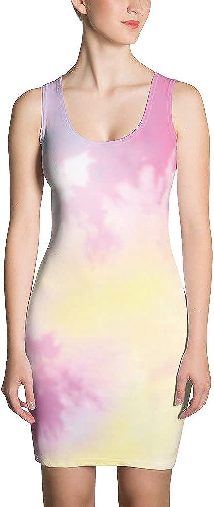 Cute Women Summer Spring Dresses Sublimation Cut & Sew Dress White