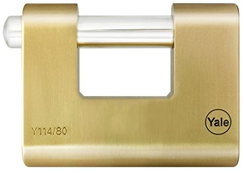 Yale Y114/80/118/1 Vorhängeschloss, 80mm, rechteckig, Messing
