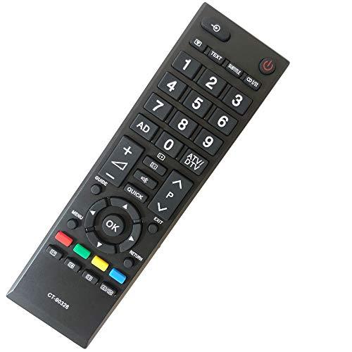 FYCJI Reemplazo Mando TV Toshiba CT-90326 No Requiere Configuración Compatible Control Remoto Toshiba Universal para Toshiba...