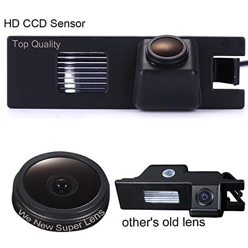 Caméra de recul de Plaque d'immatriculation, 1000TV Starlight Pro Lens, Système de recul par capteur de recul, pour VW New Beetle Passat CC 4D Phaeton Scirocco Polo Golf 5 V MK4/MK5/MK6 Variant