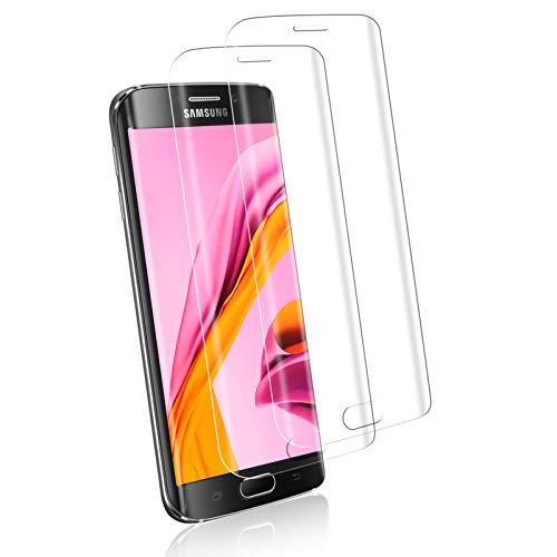 Zozgetu [2 Stück] Panzerglas Schutzfolie für Samsung Galaxy S6 Edge,[9H Härte] Anti-Öl Folie Film Anti-Fingerabdruck Panzerglasfolie Kratzfest Displayschutzfolie für Samsung S6 Edge
