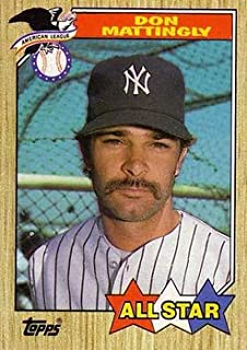 1987 Topps Regular (Baseball) card#606 Don Mattingly All Star of the New York Yankees Grade Near Mint