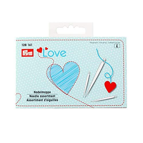 Prym PrymLove Love-Confezione da 29 Assortiti per Cucire e rammendare, con infila Aghi, Metallo, Multicolore, 12.5 x 8 x 2 cm