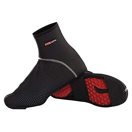 CYCEARTH Bike Shoes Covers MTB Cycling Overshoes Waterproof Windproof Warm Thermal Fleece