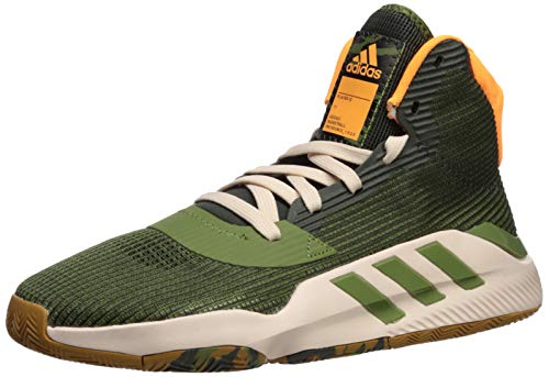 adidas Men's Pro Bounce 2019 Basketball Shoe, Legend Earth/Tech Olive/Mesa, 10 M US