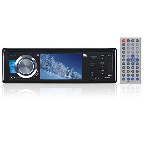 xo vision bluetooth audio receivers XO Vision XO1930 3-Inch Wide Screen DVD Receiver with USB, SD and AV Inputs on Front Panel, Detachable Face