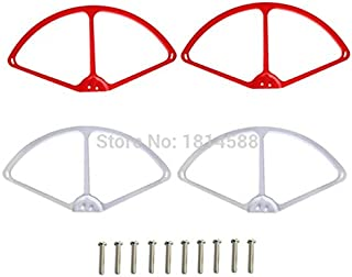 Part & Accessories New Cheerson CX20 CX-20 brushless axis aircraft propeller blade guard CX20 protective circle red and white protective sleeve