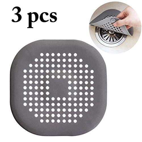 ouying1418 Leakage-Proof Water Stopper Basin Sink Hair Catcher Round Silicone Flat Cover