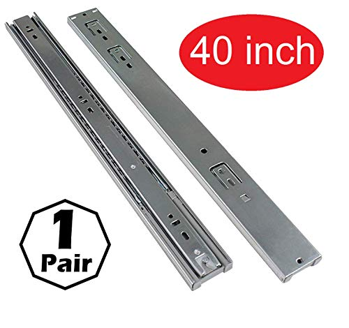Firgelli Automations Full Extension Ball Bearing Drawer Slides 400 lb Capacity (40')