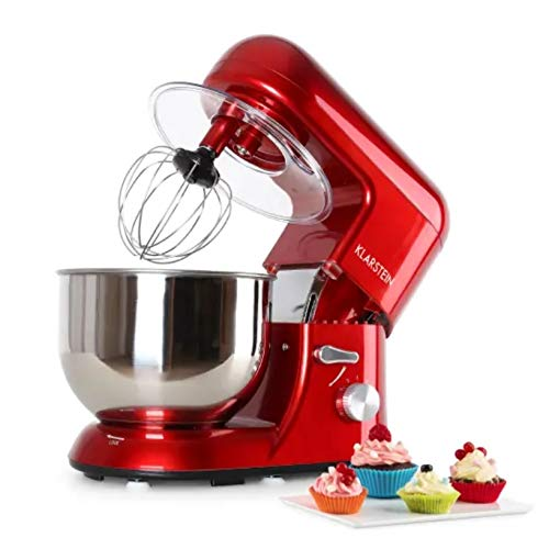 Klarstein Bella Rossa - Robot de cocina, Batidora, Amasadora, 1200 W, 5,2...