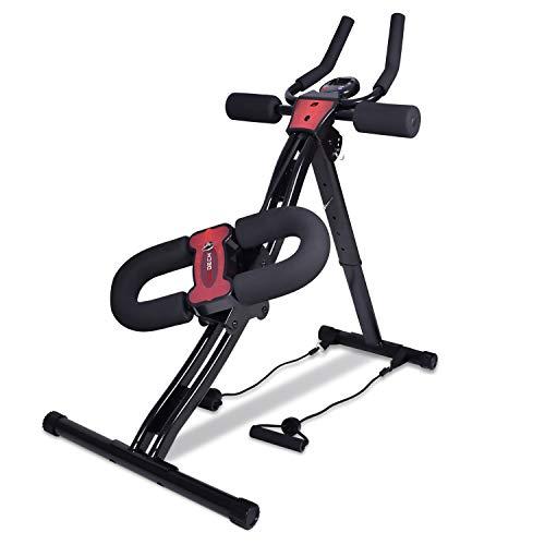 BOUDECH - AB Trainer PRO 2.0- Panca Crunch da Fitness per Addominali Alti, Bassi Frontali e Laterali con Bande Elastiche per pettorali e bicipiti