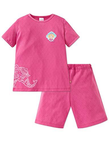 Schiesser Mädchen Prinzessin Lillifee Md Anzug kurz Zweiteiliger Schlafanzug, Rot (Pink 504), (Herstellergröße: 128)