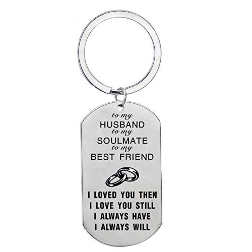 ENSIANTH Metal Wallet Card Insert for Husband Engraved You are in My Life I Love You
