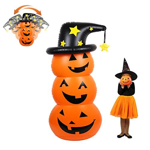 AYYDS Calabaza Hinchable para Halloween, Calabazas Decoración Halloween, Calabazas Inflables para Halloween,Terrorífica Decoración Accesorios para Halloween, Calabaza Globos para Halloween