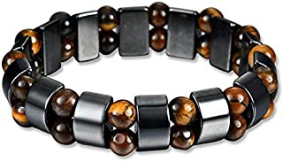 Magnetic Therapy Hematite with Tiger Stone Beads Bracelet For Men Women