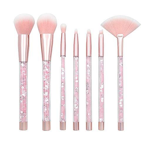 Pinceau en cristal clair poignée de maquillage de pinceau de maquillage réglé poignée de remplissage liquide de sable liquide Pinceaux à maquillage LTJHHX (Color : Rose, Size : One Size)