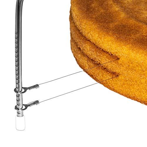 HerSo Tools Tortenbodenschneider aus Edelstahl mit 3 Schneiddrähten! Tortenschneider...