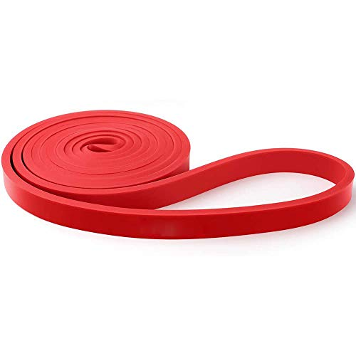 HieerBus Pull Up Assistance Bands- Stretch Exercise Resistance Band-Mobility & Powerlifting Bands,Elastic Workout Rope for Body Stretching, Yoga, Pilates, Muscle Strength Training Fitness (Red)