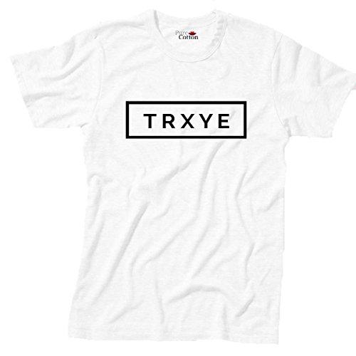 Reine Baumwolle TRXYE T-Shirt Troye Sivan Happy Little Pill Gr. L (112 cm), weiß